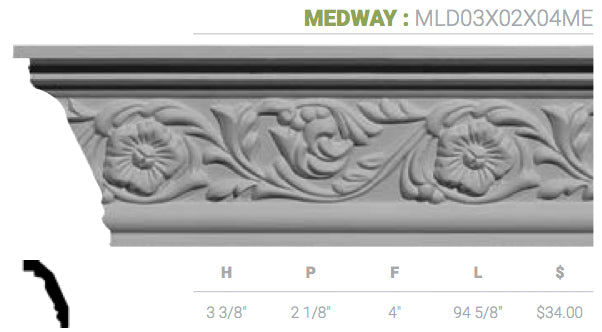 MLD03X02X04ME Medway Crown Moulding