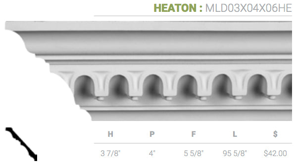 MLD03X04X06HE Heaton Crown Moulding