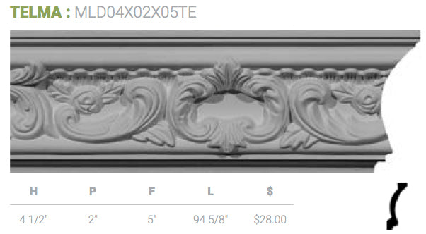 MLD04X02X05TE Telma Crown Moulding