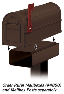 4815A-BRZ Newspaper Holder for Antique Rural Mailbox - Bronze