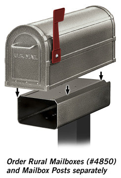 4815D-PEW Newspaper Holder for Deluxe Rural Mailbox - Pewter