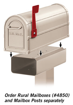 4815BGE Newspaper Holder for Heavy Duty Rural Mailbox and Townhouse Mailbox - Beige
