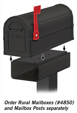 4815BLK Newspaper Holder for Heavy Duty Rural Mailbox and Townhouse Mailbox - Black