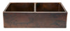 KA50DB33229 Hammered Copper Kitchen Apron Sink