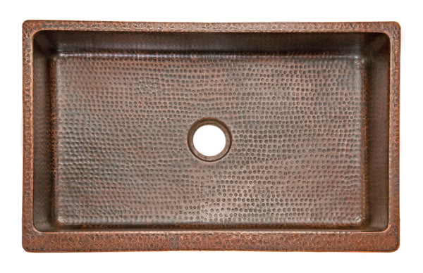KASDB35229 Hammered Copper Kitchen Apron Sink