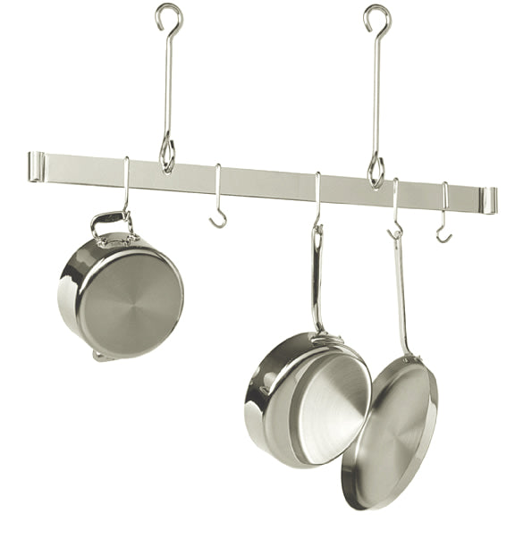 PR18-48 48 Inch Offset Hook Ceiling Rack Stainless