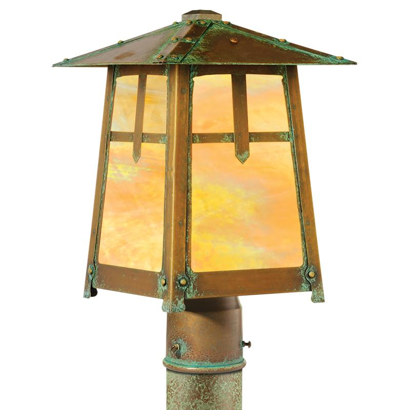 Poplar Glen Post Mount Lantern 643-3