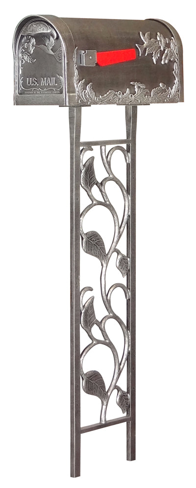 SCB-1005-450-SW Hummingbird Curbside Mailbox with Floral Mailbox Post