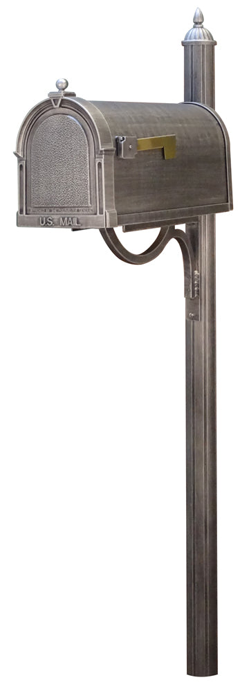 SCB-1015-SPK-679-SW Berkshire Curbside Mailbox with Richland Mailbox Post