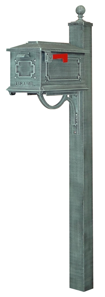 SCK-1017-SPK-710-VG Kingston Curbside Mailbox with Springfield Mailbox Post