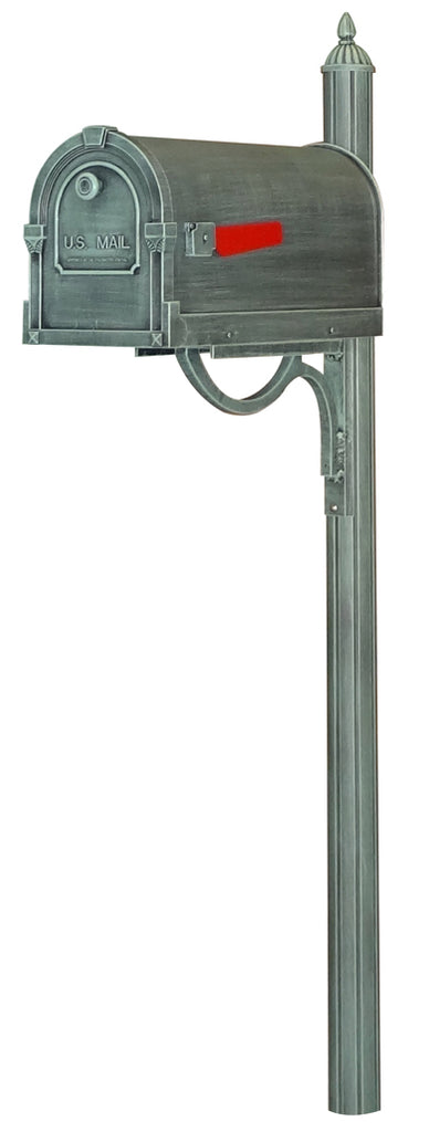 SCS-1014-SPK-679-VG Savannah Curbside Mailbox with Richland Mailbox Post