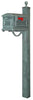 SCT-1010-SPK-710-VG Traditional Curbside Mailbox with Springfield Mailbox Post