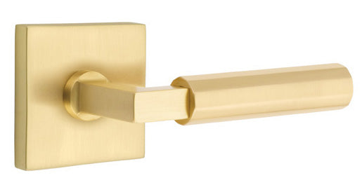 SELECT L-Square Faceted Modern Lever-Brass
