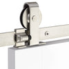 Emtek Barn Door Hardware Kit - Classic Top Mount Hanger - Brushed Stainless Steel