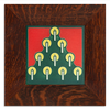 Motawi 6661GR 6x6 Tannenbaum - Green - Oak Park Frame - Signature Finish
