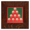 Motawi 6661RD 6x6 Tannenbaum - Red - Oak Park Frame - Signature Finish
