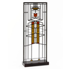 Y9005 Frank Lloyd Wright Robie Window 51 Art Glass in Wood Stand