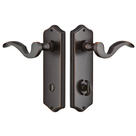 Sideplate Lockset - Colonial Brass - Thumbturn Privacy Non-Keyed
