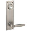 Sideplate Lockset - Quincy Brass - Keyed 5.5 Inch CTC