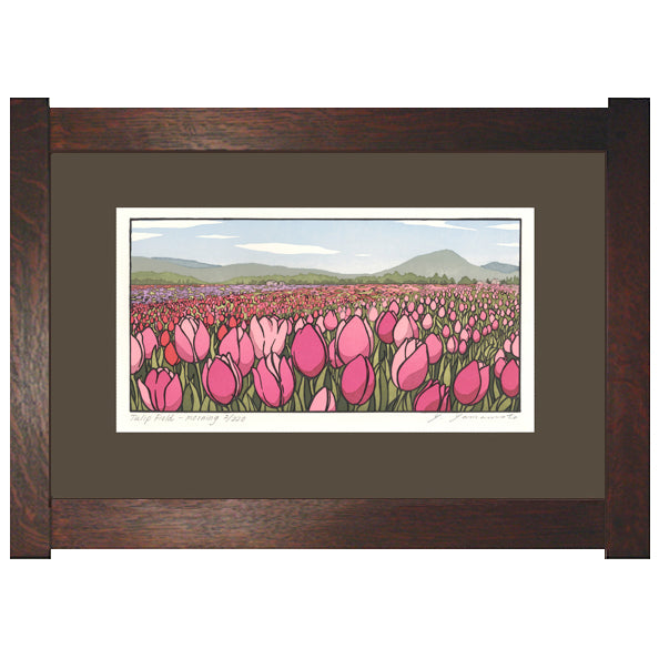 Tulip Field - Morning Framed Print