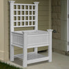 VA68227 Kingsrow Raised Planter with Trellis