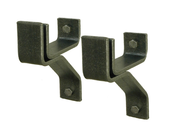 WB4 4 Inch Wall Brackets Hammered Steel