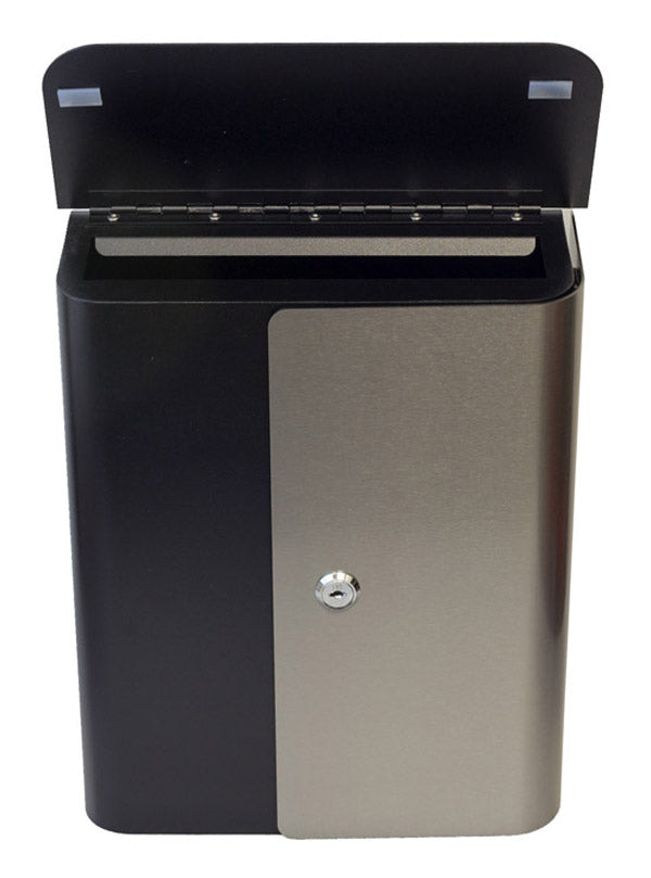 WF-W1725BKST-2 Winfield Vista Contemporary Mailbox - Black-SS