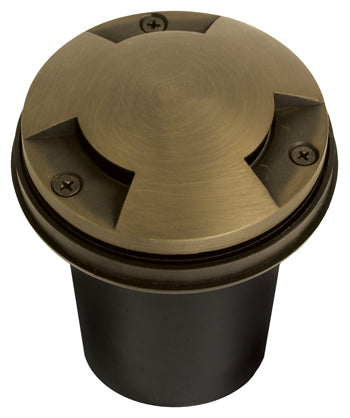WL-104-LED-9W Brass Well Light