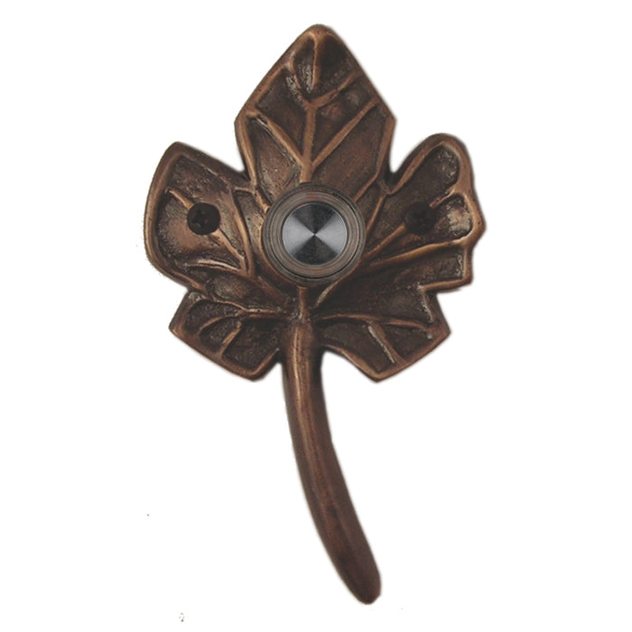 Small Leaf Doorbell - Oil Rubbed Bronze