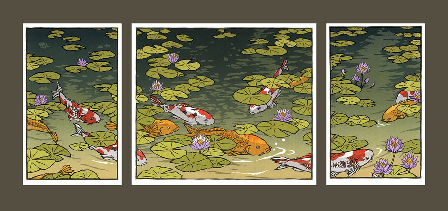 Waterlilies I Matted Print