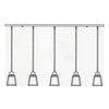 AICH-5T 5 Light In-Line Chandelier