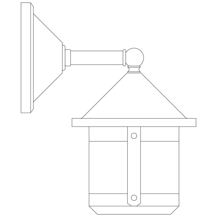 BB-6SW-Wall Mount Light-Short-Wet Rated