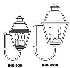 INB-8GR Inverness Wall Mount Light - Glass Roof