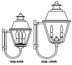 INB-8MR Inverness Wall Mount Light - Metal Roof