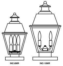 INC-8MR Inverness Column Mount Light - Metal Roof