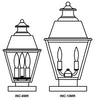 INC-10MR Inverness Column Mount Light - Metal Roof