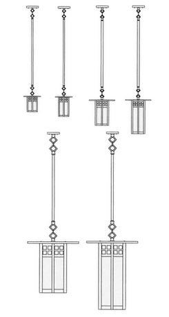 9'' glasgow long body stem mount pendant