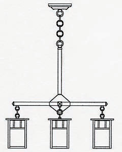HCH-4L/4A 4 Lt Chandelier-Arch Ovly