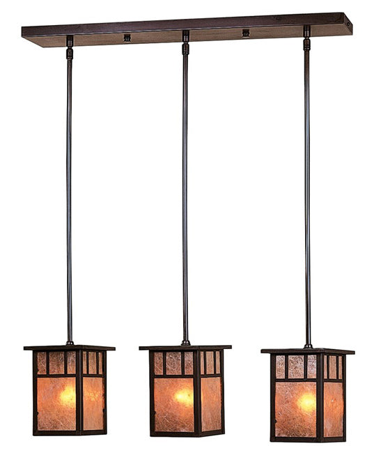 HICH-4L/3A 3 Lt In-Line Chandelier-Arch ovly