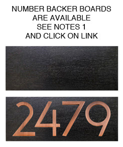 3584AC-3 Wright Address Number 3 - Antique Copper