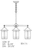 7'' berkeley 4 light chandelier