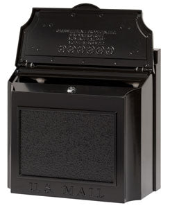 Cast Aluminum Locking Mailbox - Black - No House Number
