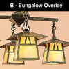 8'' carmel 4 light chandelier with bungalow overlay