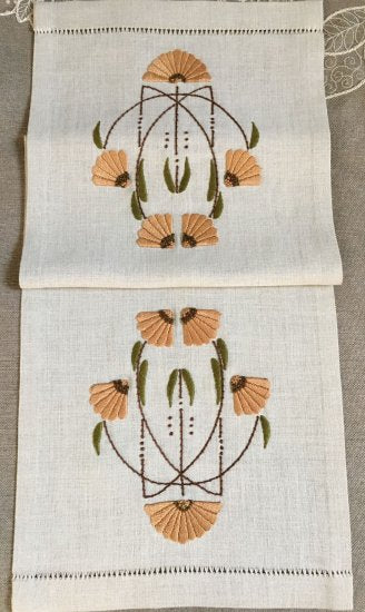 Carries Garden Embroidered Table Scarf