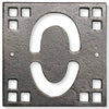 Bronze-Copper Craftsman House Number Tile 0