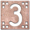 Bronze-Copper Craftsman House Number Tile 3