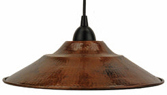 L400DB Hand Hammered Copper 13 Inch Large Pendant Light