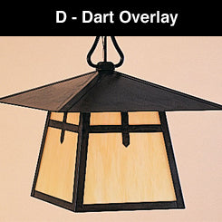8'' carmel 4 light chandelier with dart overlay
