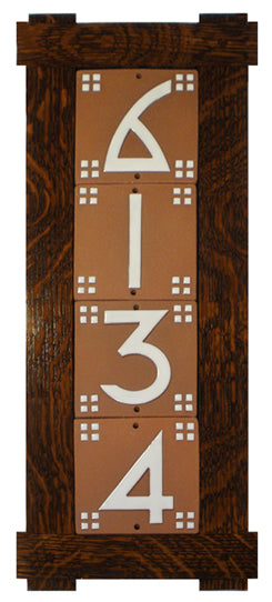 QS Oak House Number Tile Frame - 3 Numbers - FRAME ONLY - NUMBER TILES SOLD SEPARATELY