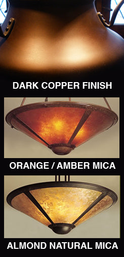 17 Inch Mica and Copper Lamp Shade with Finial